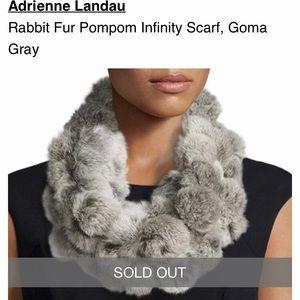 Adrienne Landau rabbit fur infinity scarf